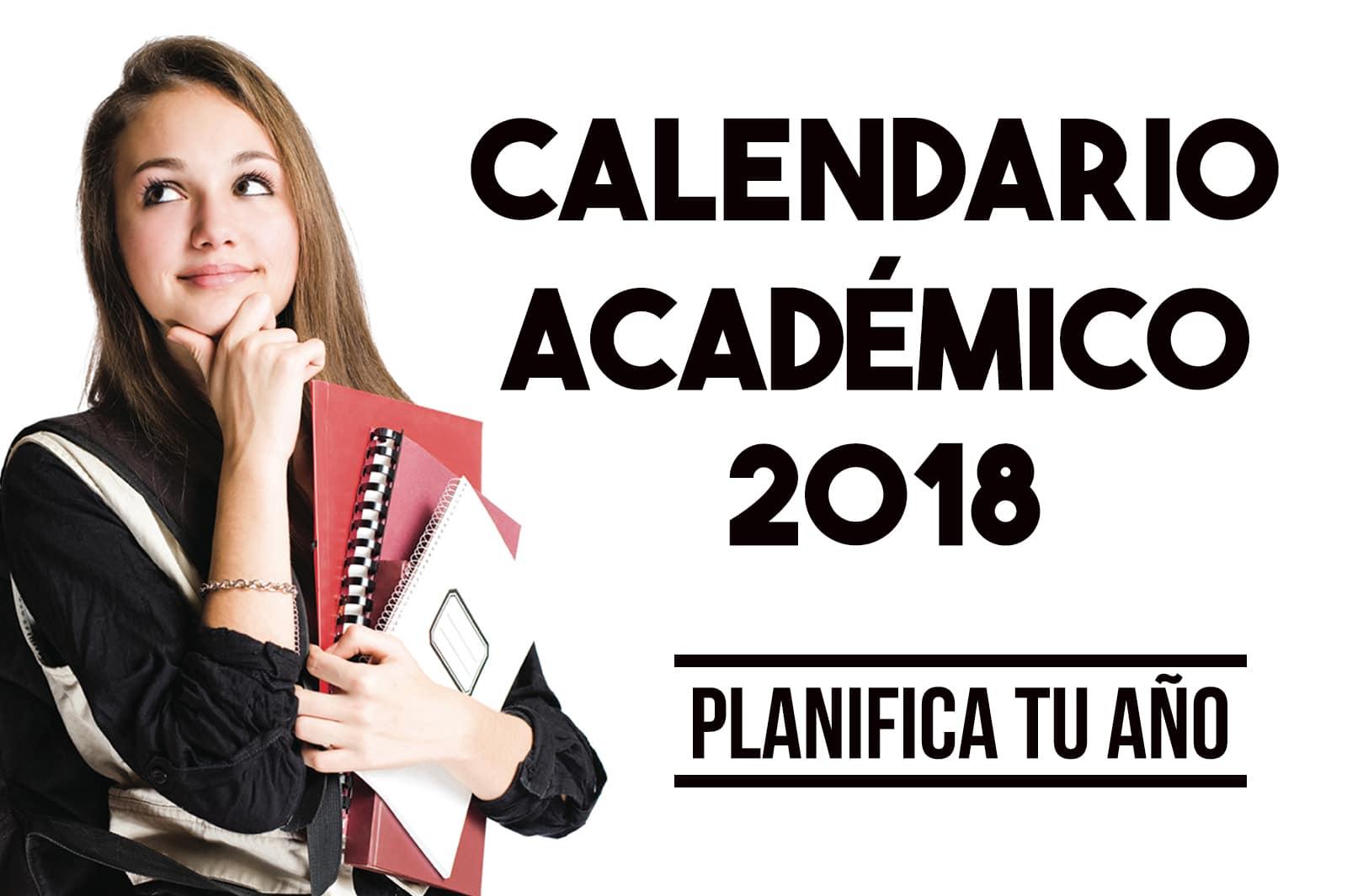 Calendario Académico Segundo Semestre 2018