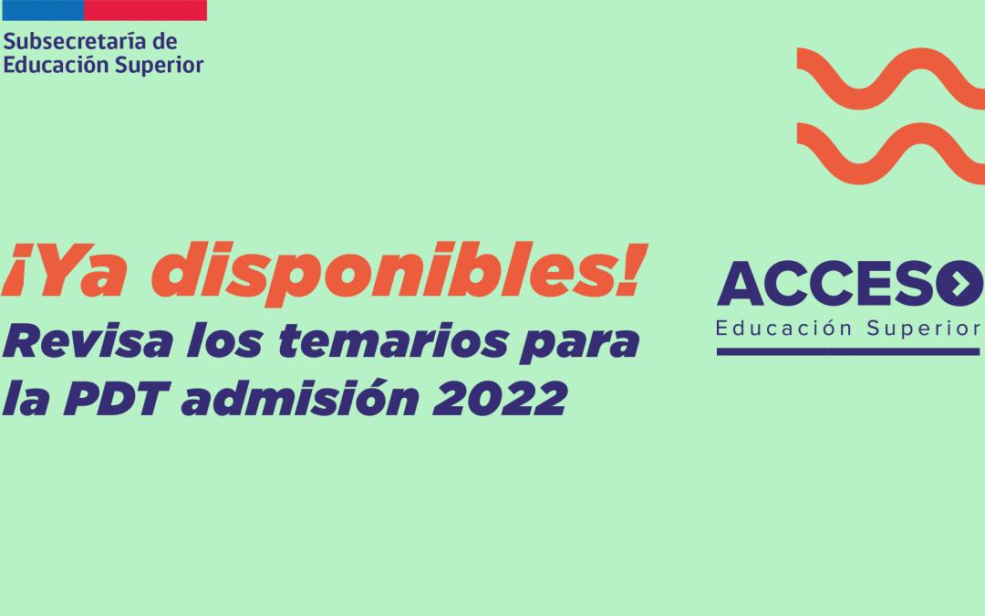 Mineduc y Demre dan a conocer los temarios para la prueba de transición del proceso de admisión 2022